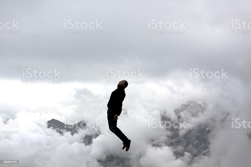 frozen jump stock photo