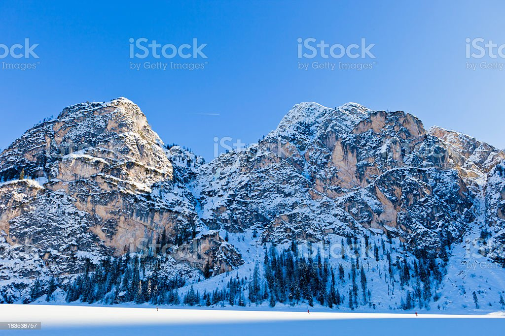 'Frozen Lake Braies, Italy' stock photo