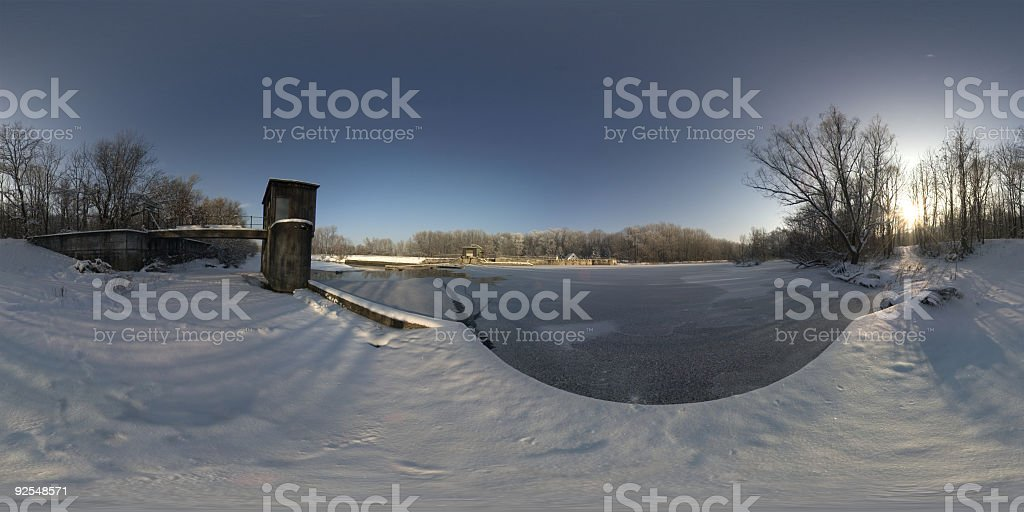 frozen lake [environment map] royalty-free stock photo