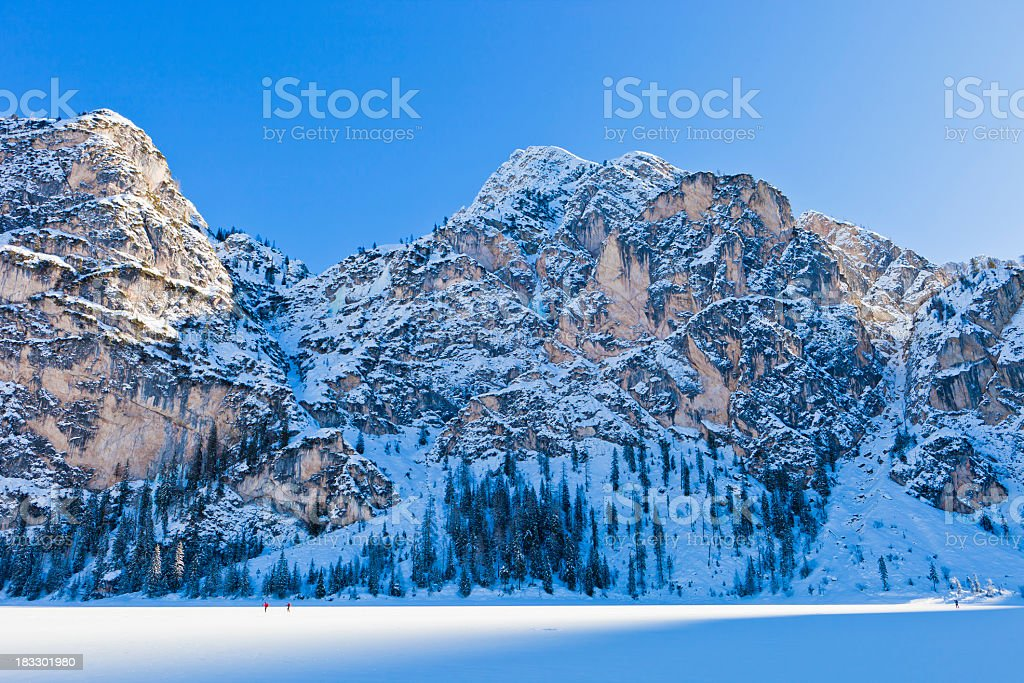 'Frozen Lake of Braies, Italy' stock photo