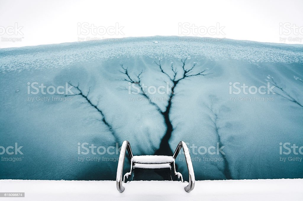 Frozen Lake stock photo