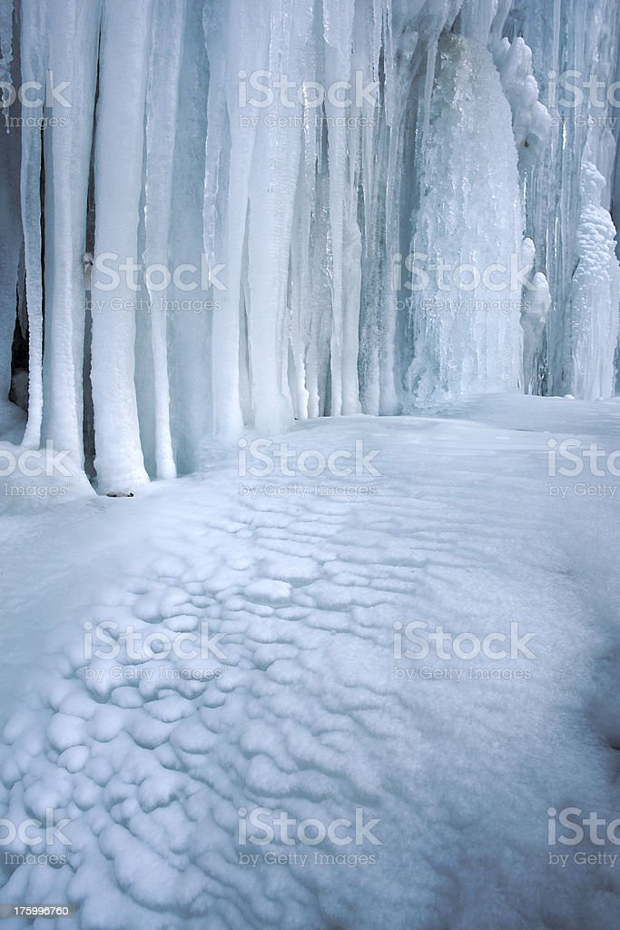 Frozen Land stock photo