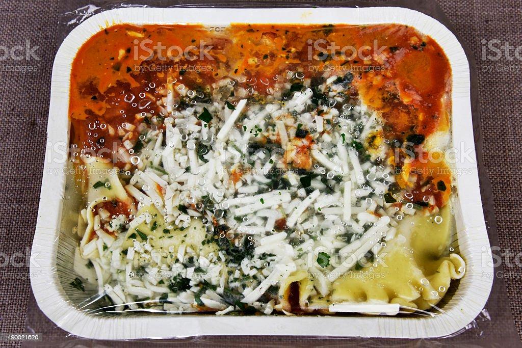 Frozen Lasagna stock photo
