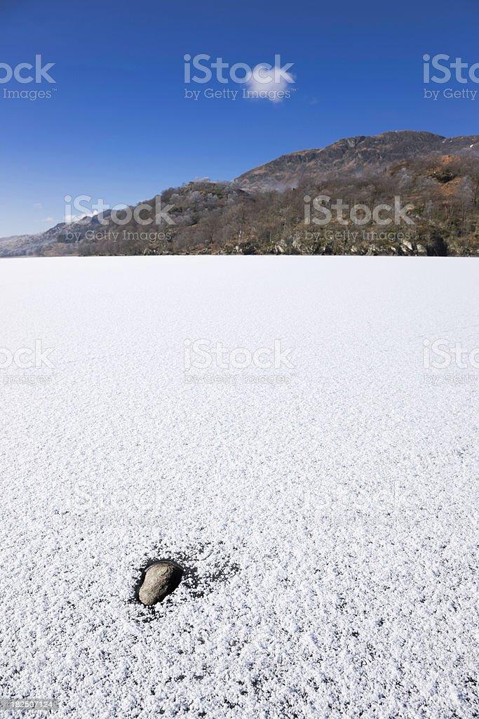 Frozen Loch royalty-free stock photo