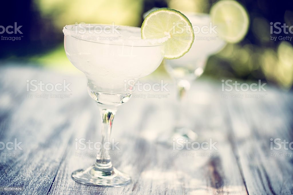 Frozen Margarita as Fresh Summer Drink stock photo