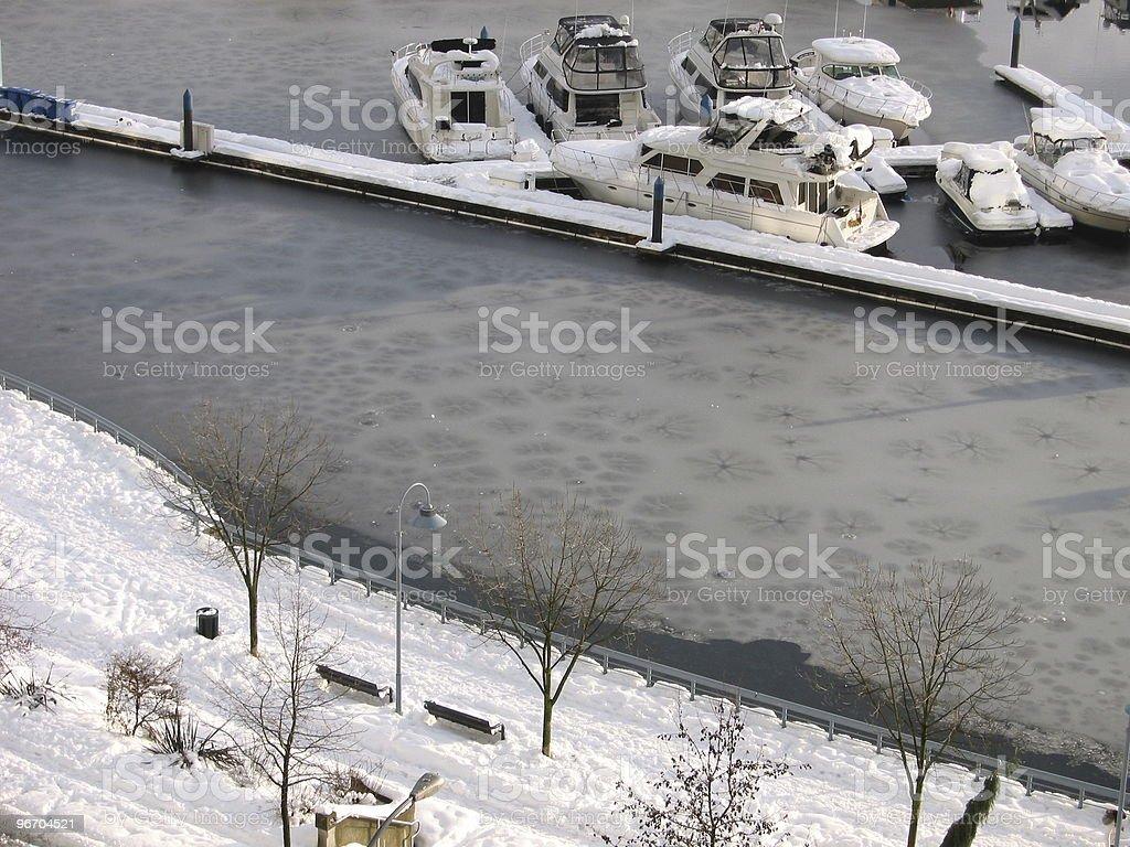 Frozen Marina royalty-free stock photo