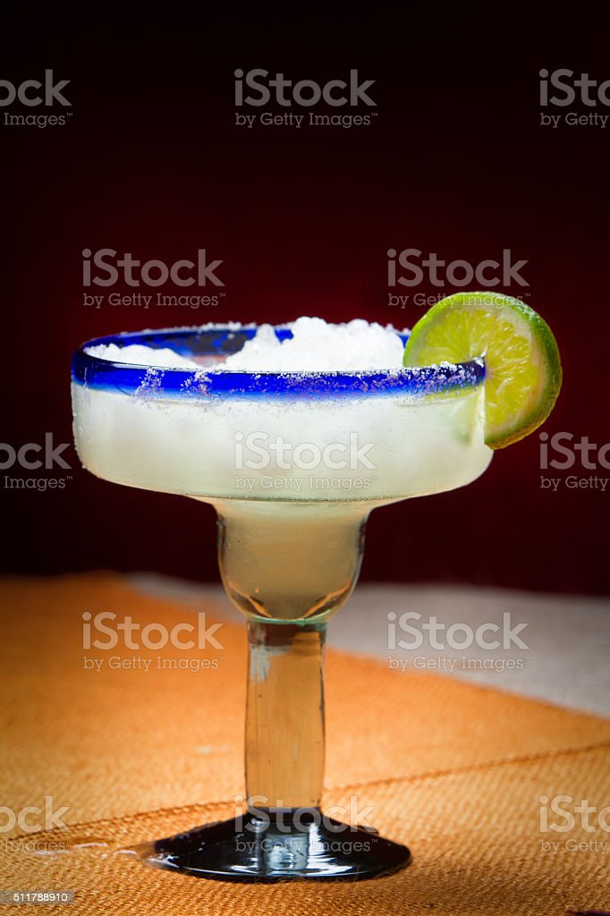 Frozen Mexican Margarita Cocktail with Fresh Lime stock photo