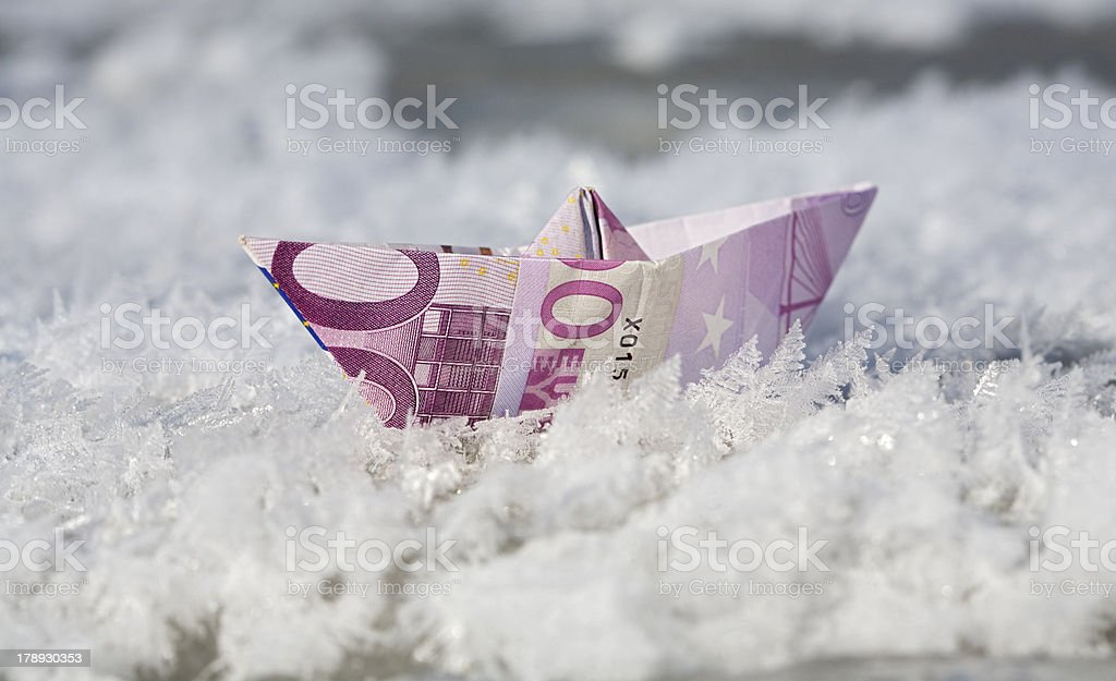 frozen money royalty-free stock photo