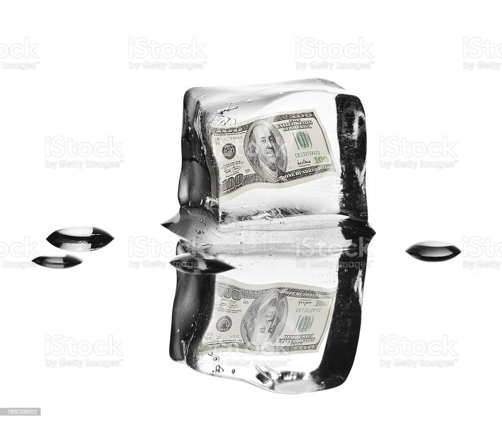 Frozen money stock photo