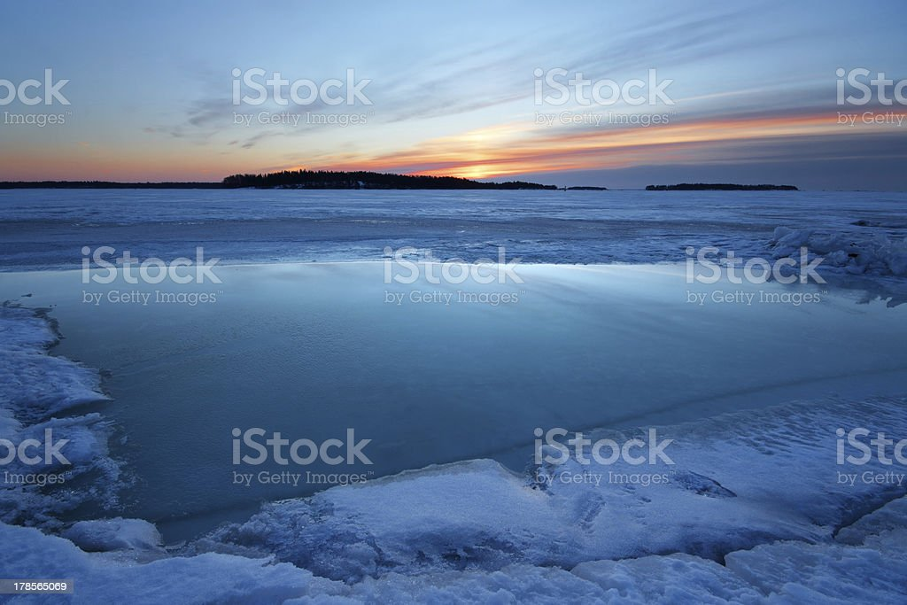 Frozen morning dawn royalty-free stock photo