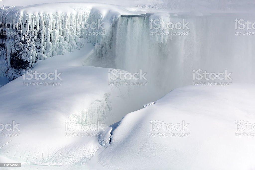 Frozen Niagara Falls stock photo