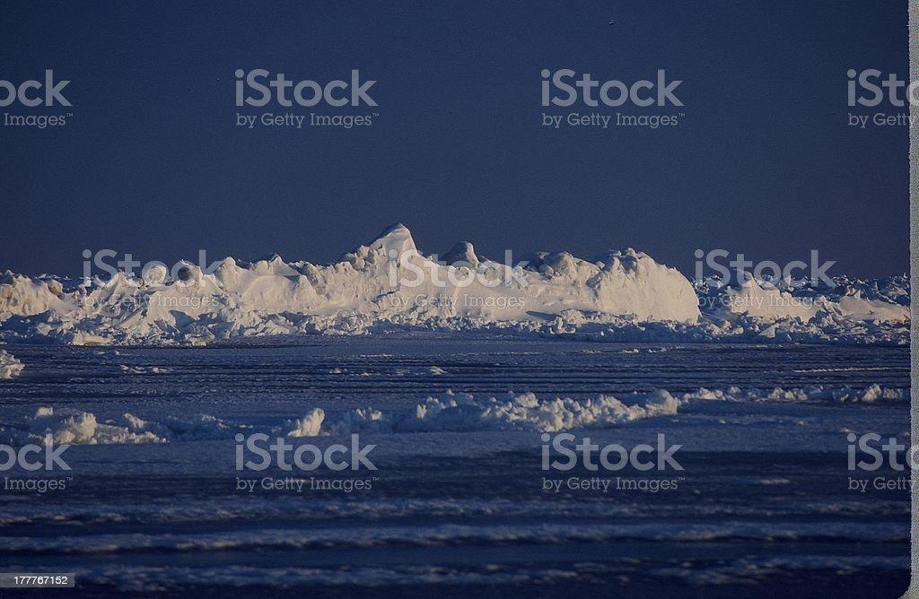 frozen ocean stock photo