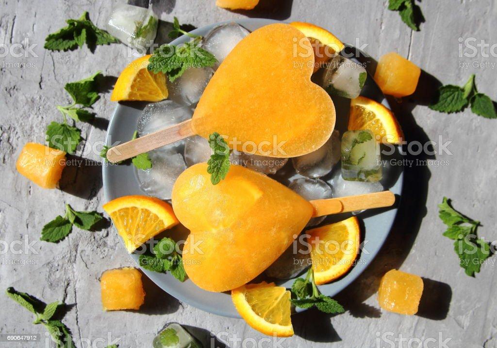 Frozen orange lemonade stock photo
