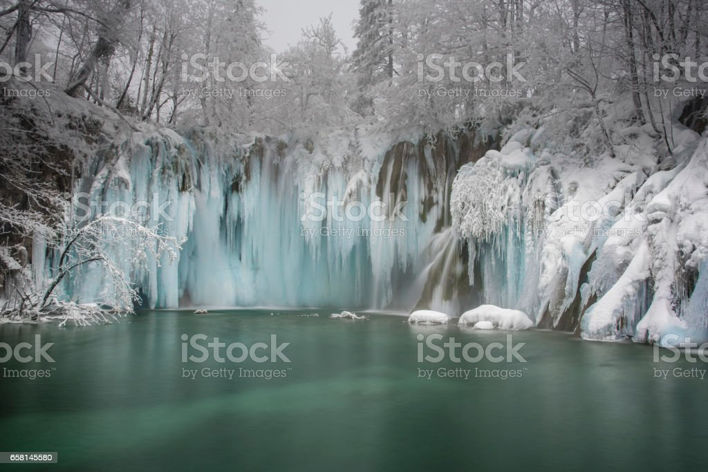 Frozen Paradise stock photo