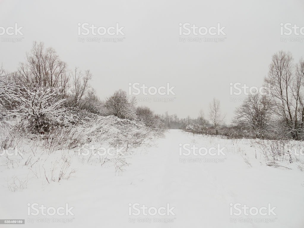 Frozen path stock photo