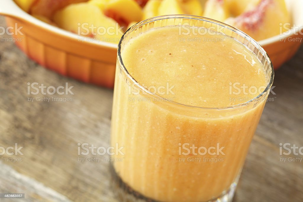 Frozen peach smoothie drink royalty-free stock photo