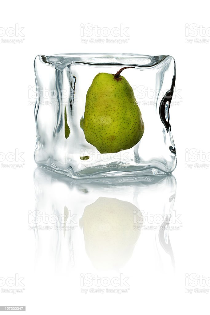 frozen pear royalty-free stock photo