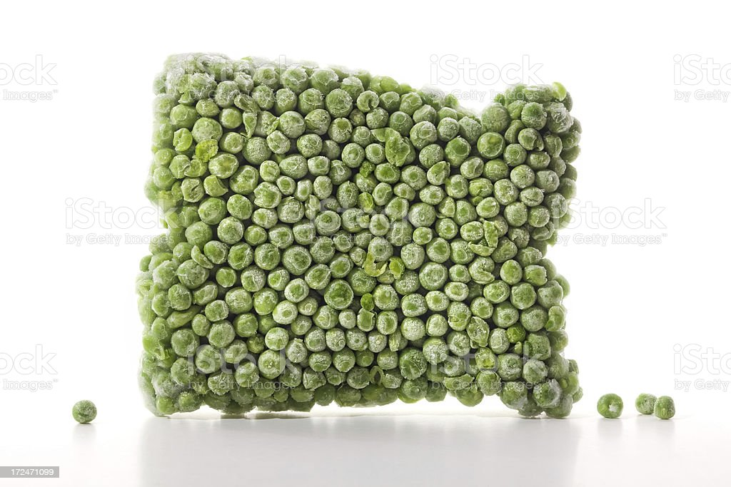 frozen peas royalty-free stock photo