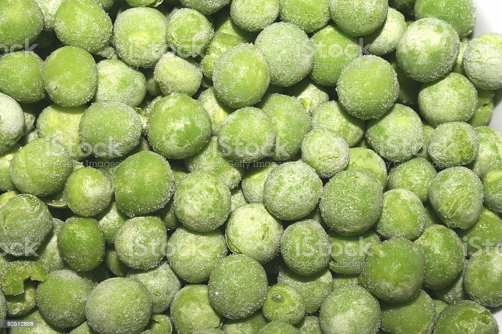 Frozen peas. stock photo