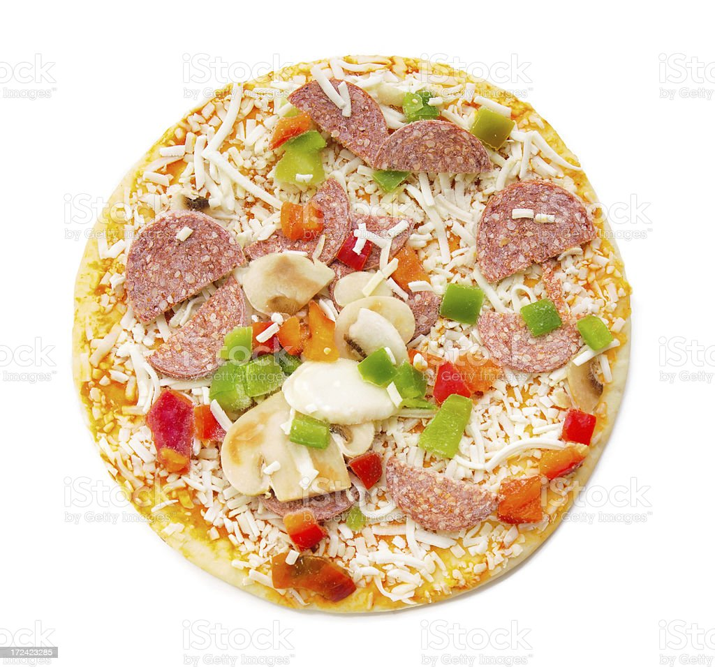 Frozen Pizza from the top royalty-free stock photo
