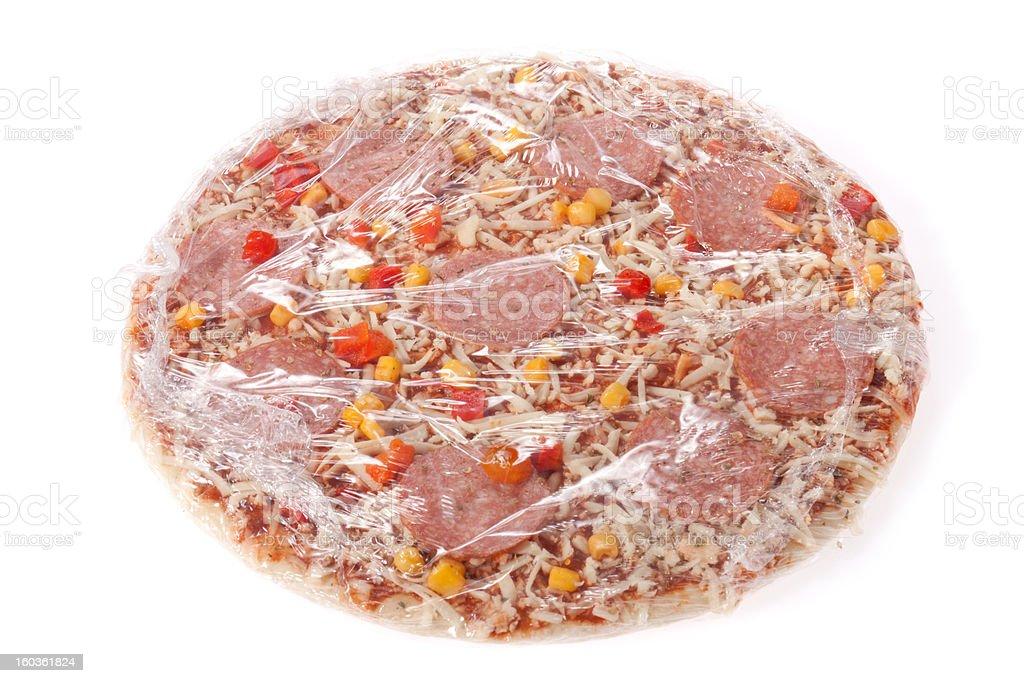 frozen pizza stock photo