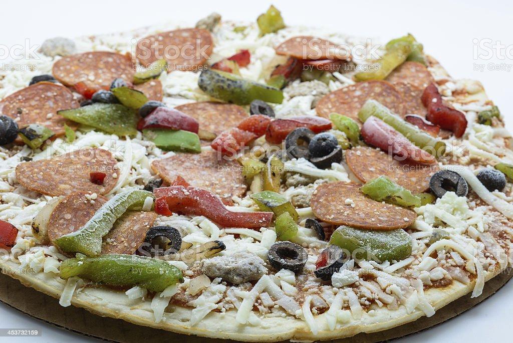 Frozen pizza royalty-free stock photo