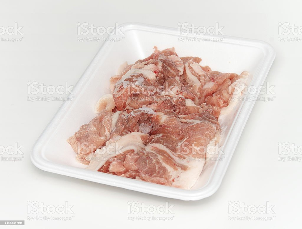 Frozen pork royalty-free stock photo