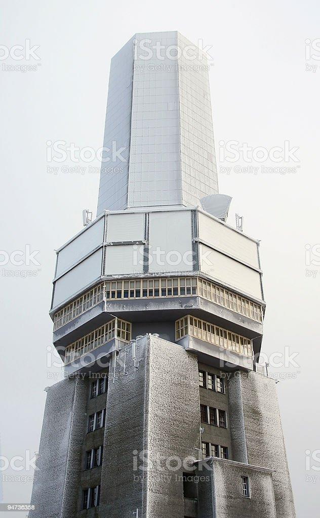 Frozen Radio Tower royalty-free stock photo