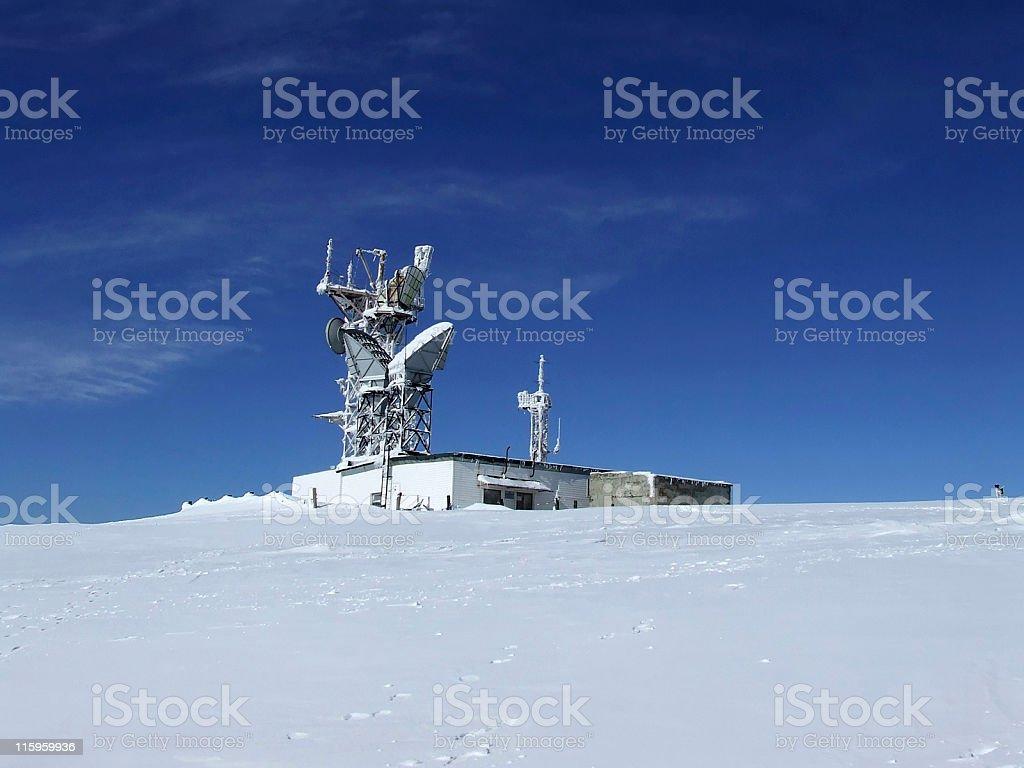 Frozen radio-locator royalty-free stock photo