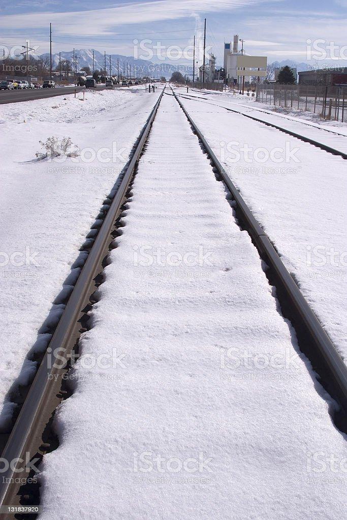 Frozen Rails royalty-free stock photo