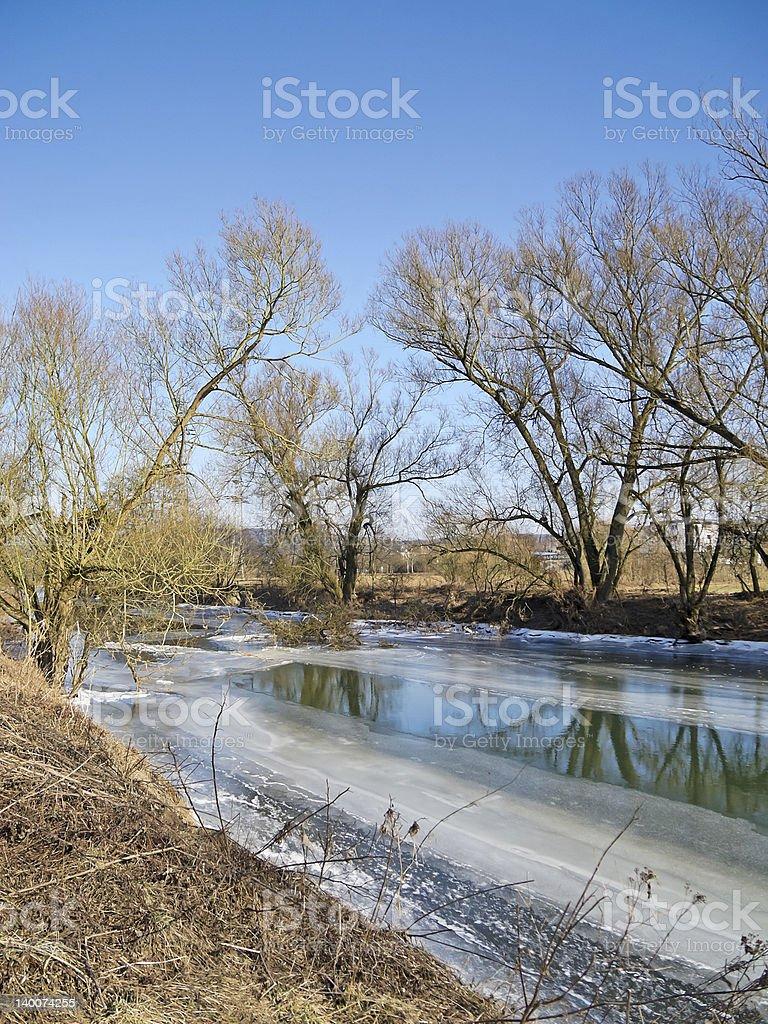 冷凍川 ロイヤリティフリーストックフォト