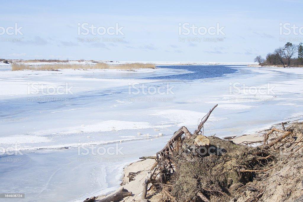 Frozen river royalty-free stock photo