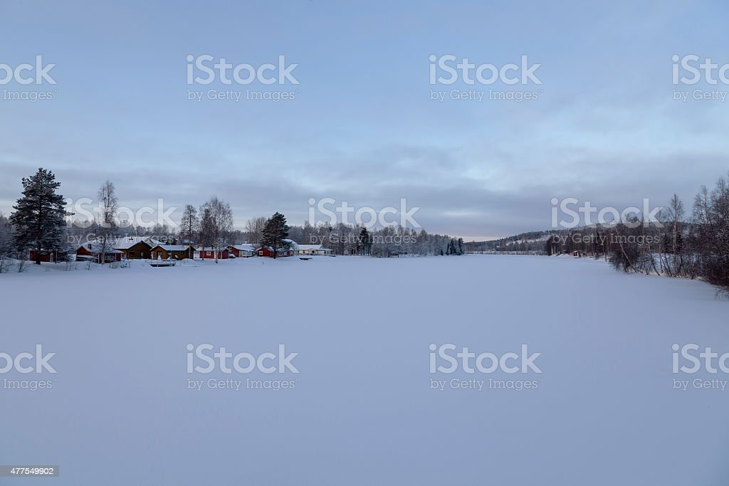 Frozen river royalty-free stock photo