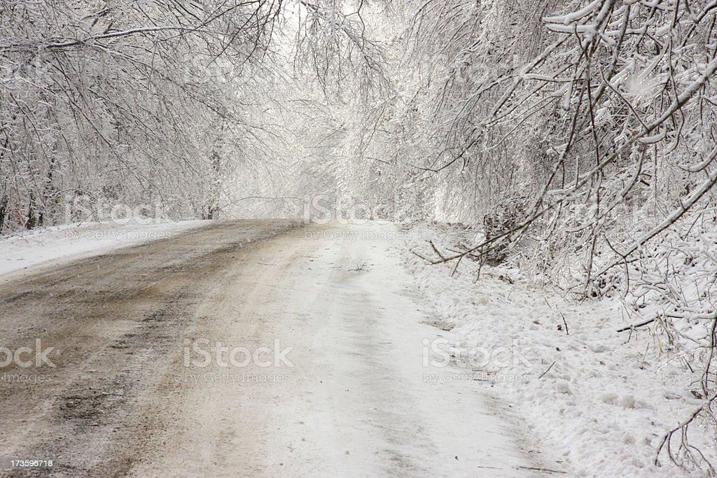 Frozen Road royalty-free stock photo