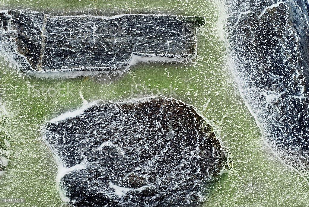 frozen  rocks stock photo