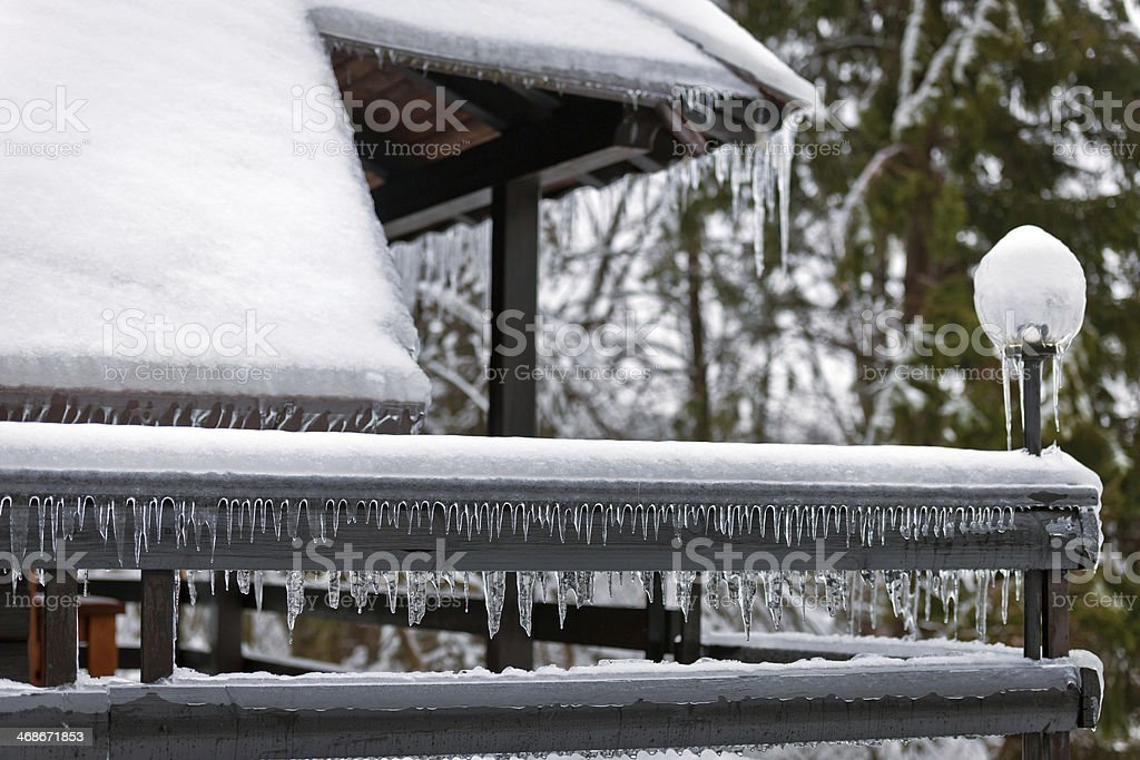 Frozen Roofs royalty-free stock photo