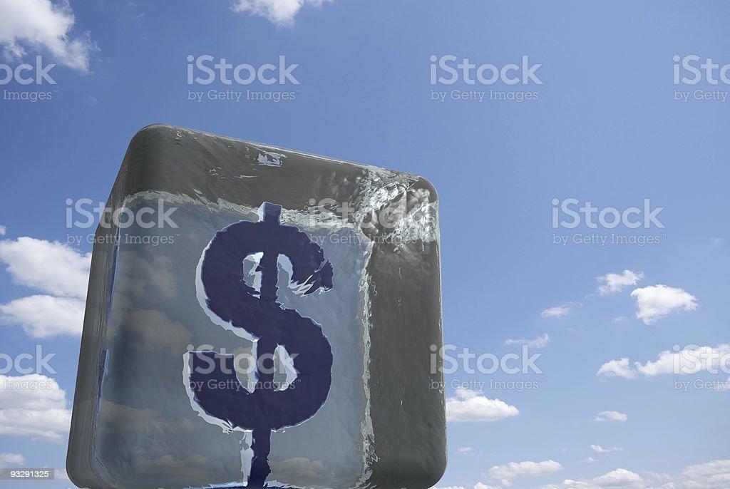 Frozen Savings royalty-free stock photo