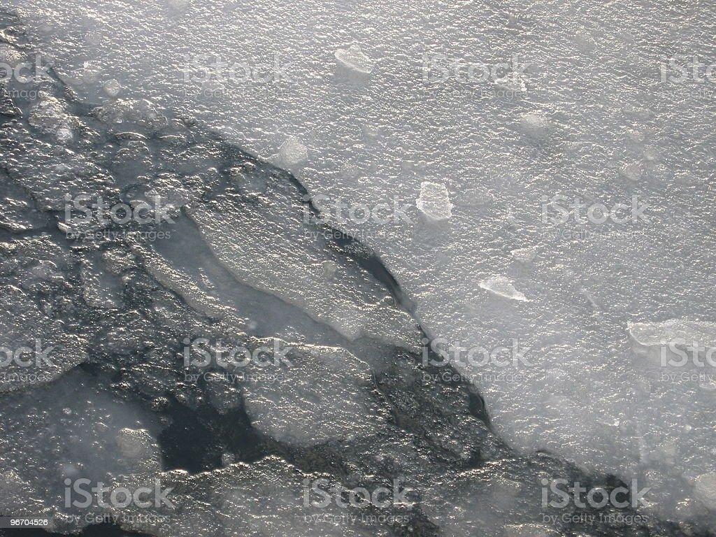 Frozen Sea Half Breaking royalty-free stock photo