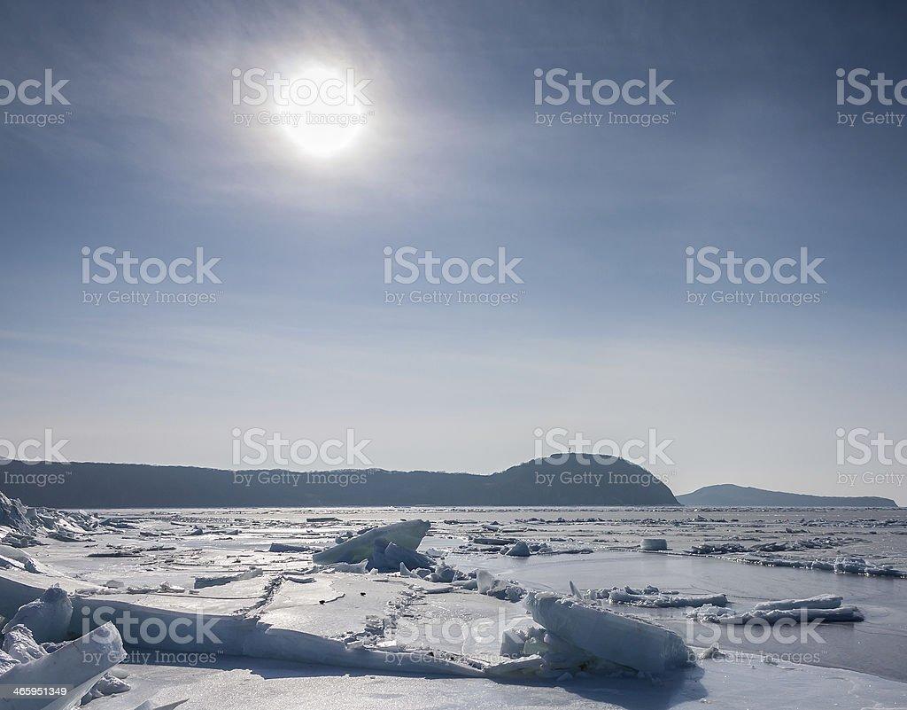 Frozen sea. royalty-free stock photo