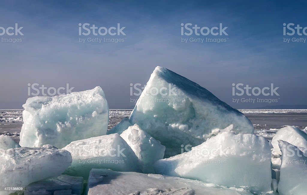 Frozen sea. royalty-free stock photo