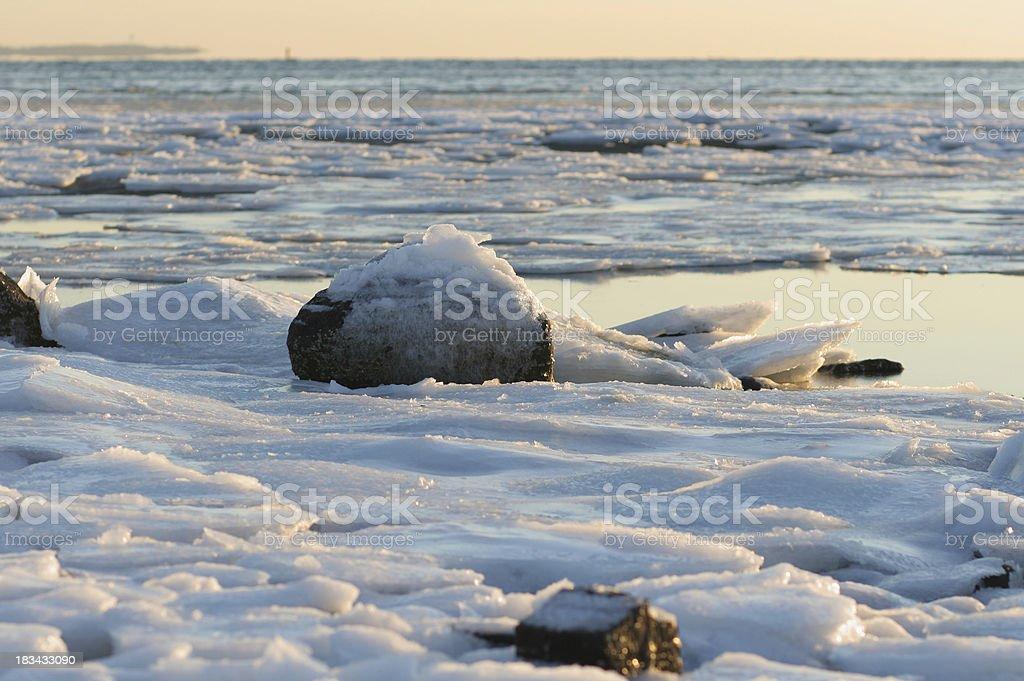 Frozen Sea Water stock photo