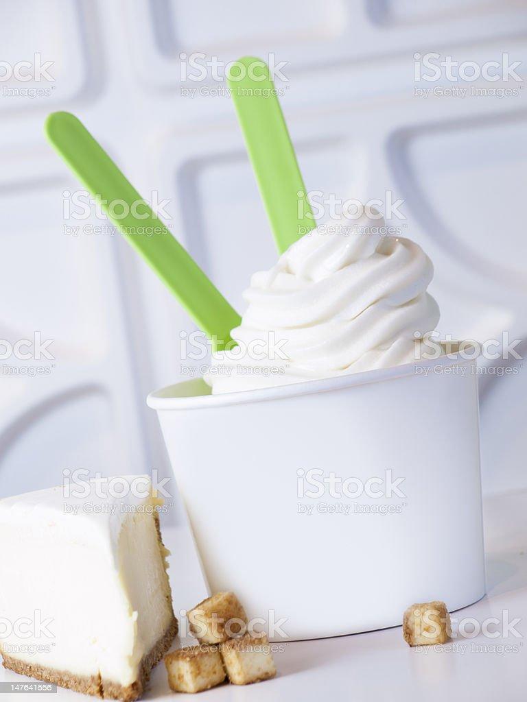 Frozen Soft Serve Yogurt. stock photo