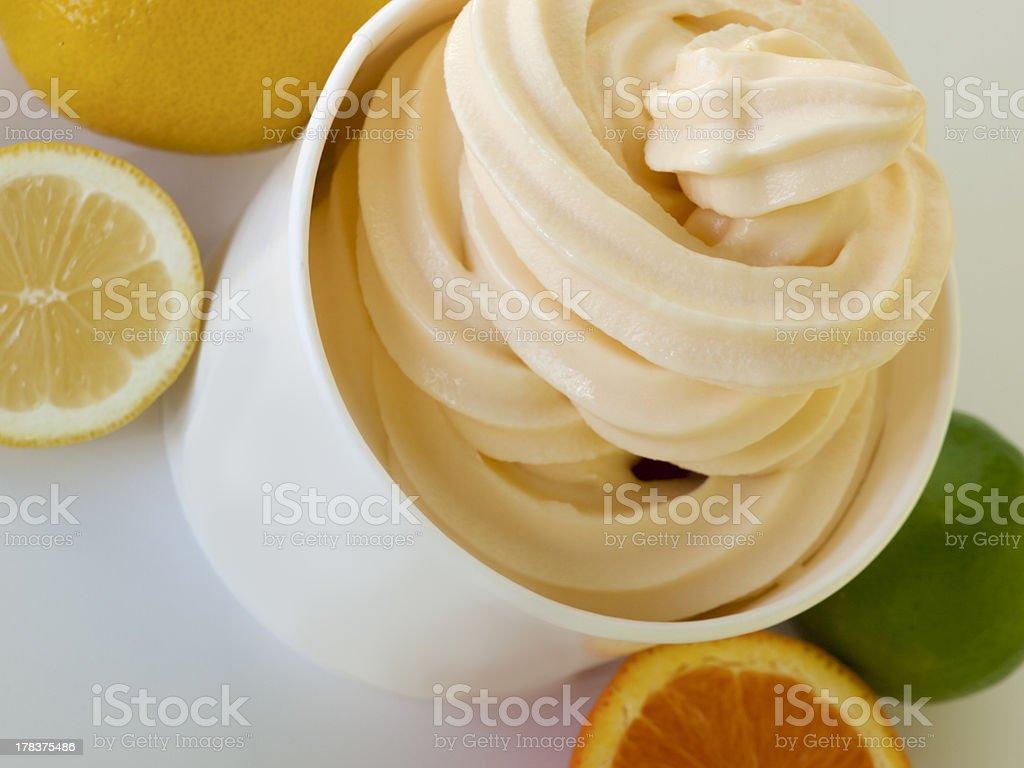 Frozen Soft Serve Yogurt stock photo