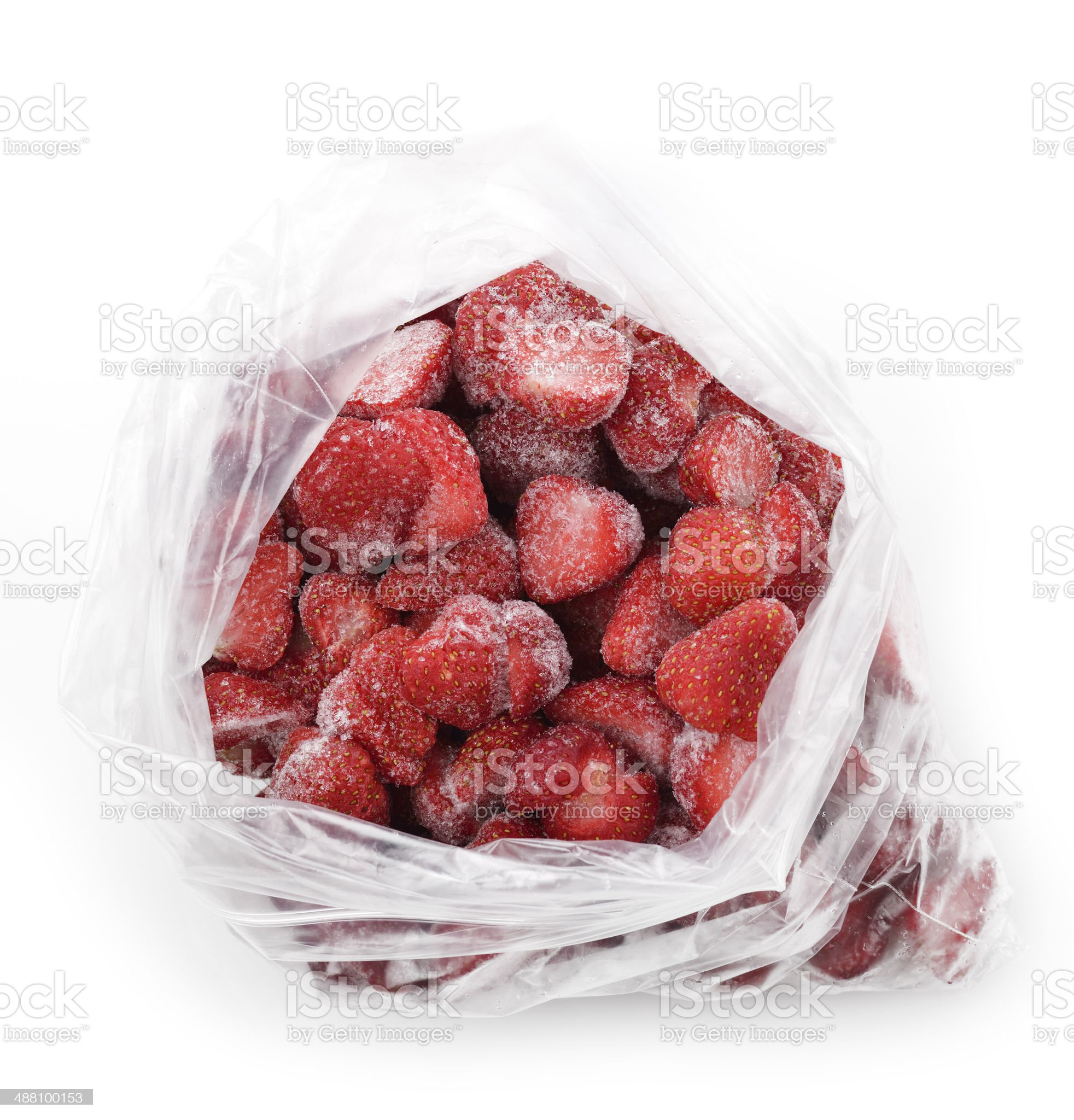 Frozen Strawberries royalty-free stock photo