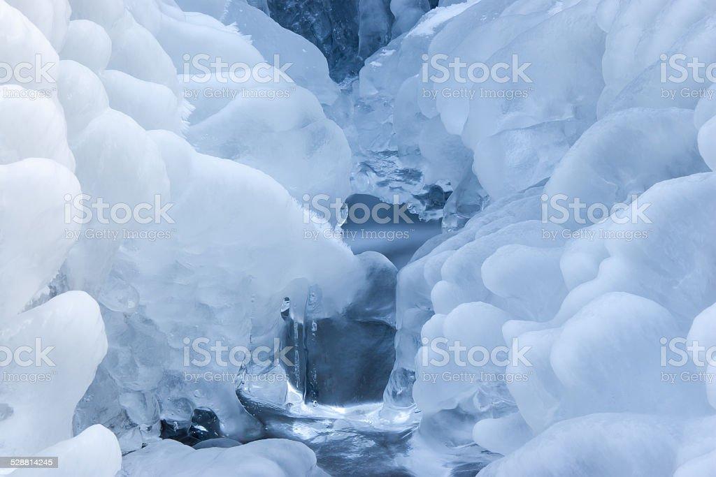 Frozen stream stock photo