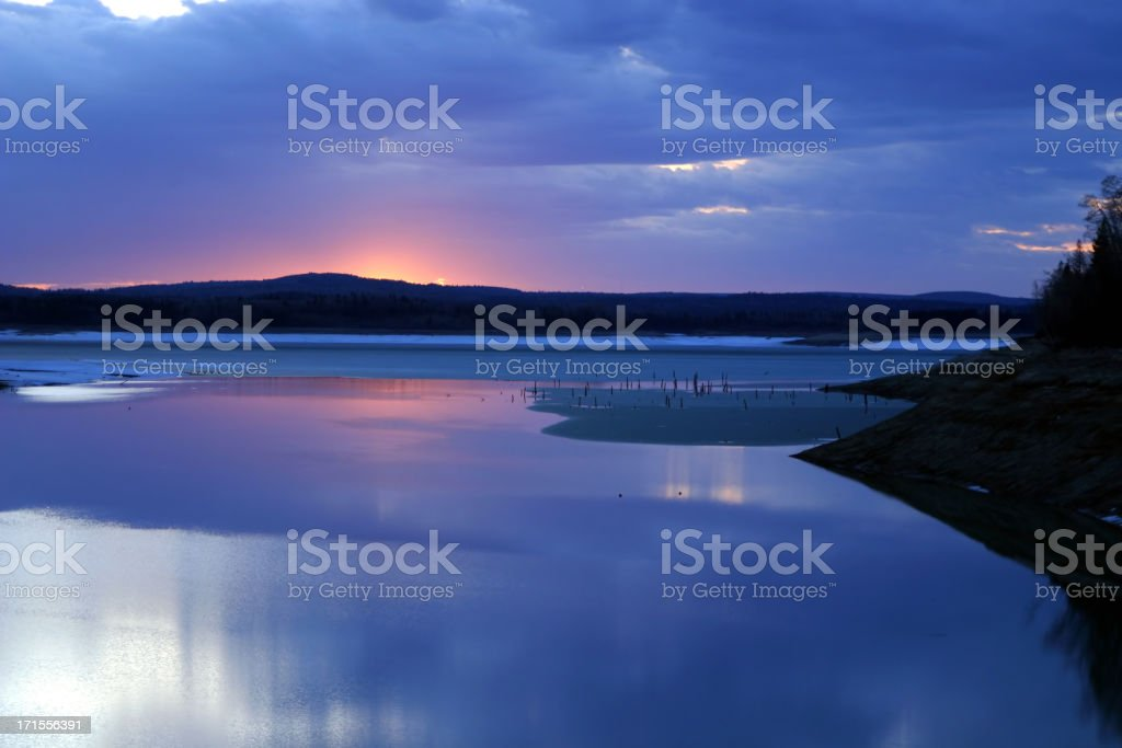 Frozen Sunset royalty-free stock photo