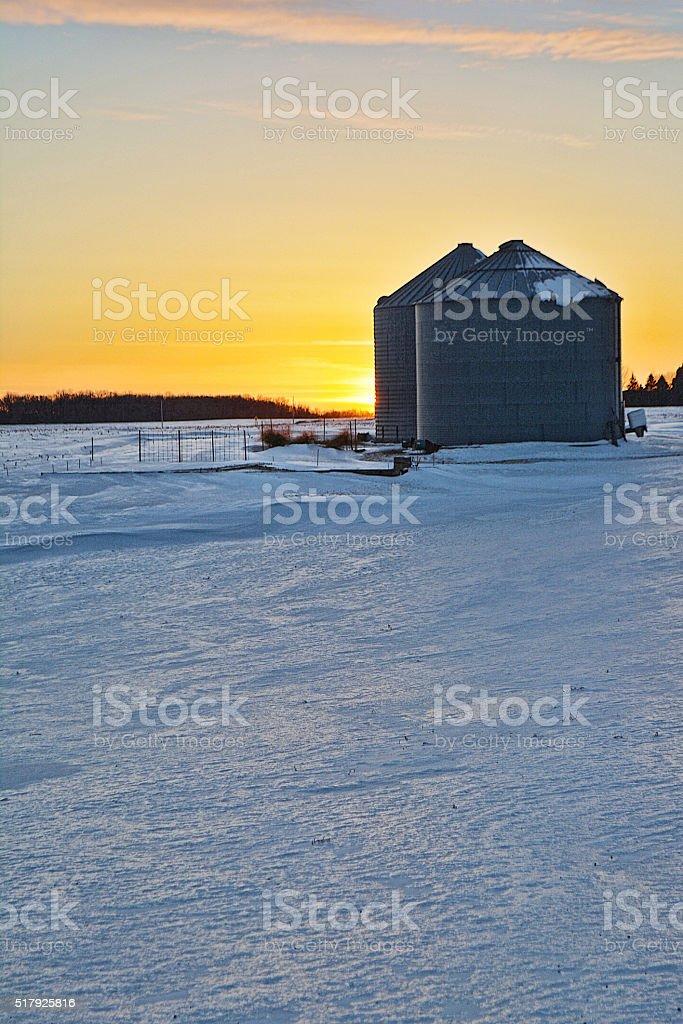 Frozen Sunset stock photo