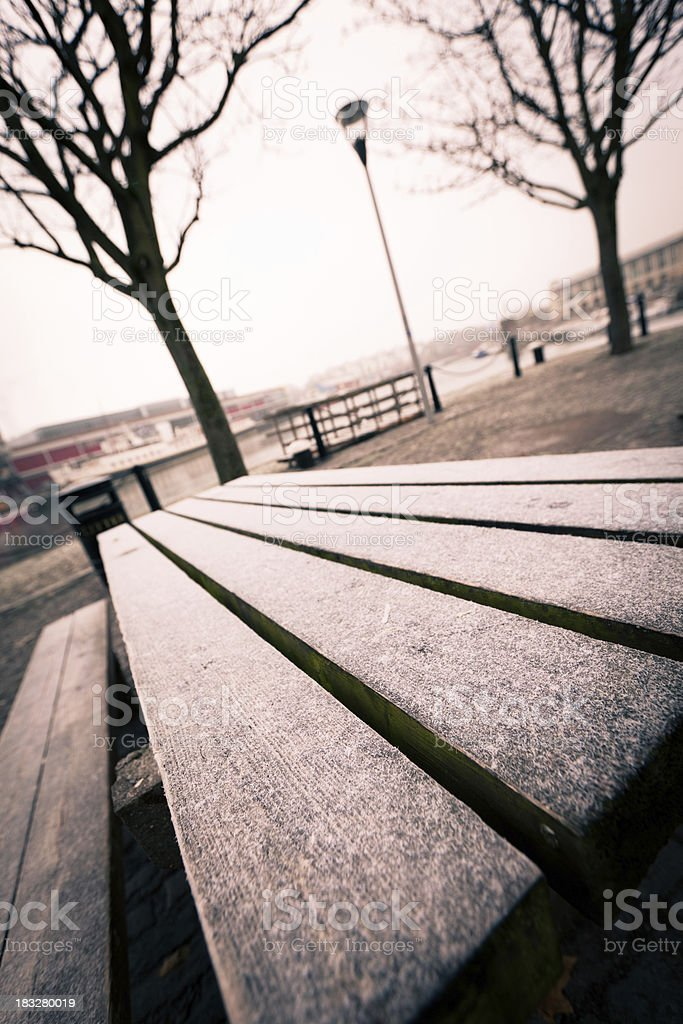 frozen table royalty-free stock photo