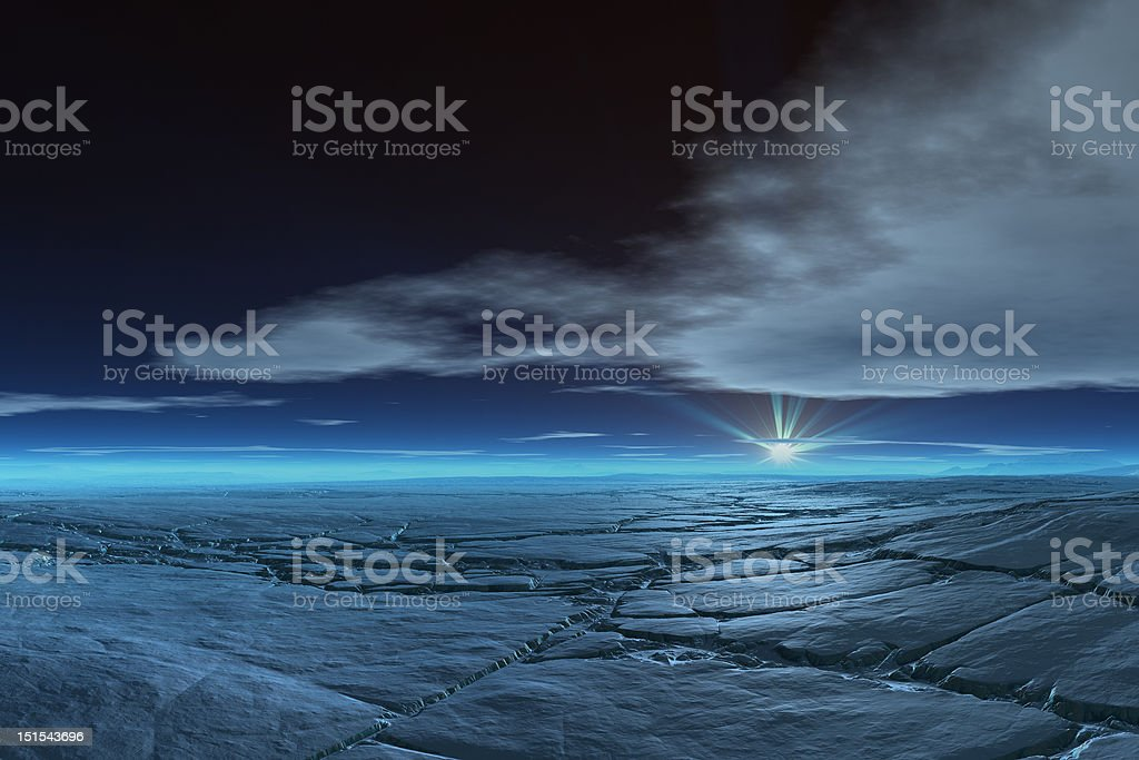 Frozen Tundra royalty-free stock photo