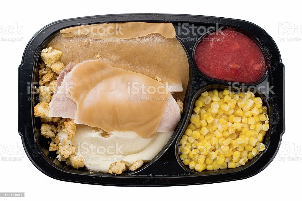 Frozen Turkey Dinner royalty-free stock photo